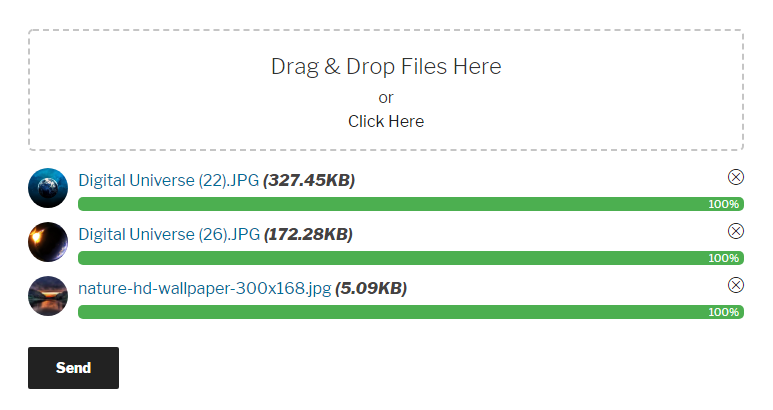 Drag & Drop Multiple File Uploads - Contact Form 7