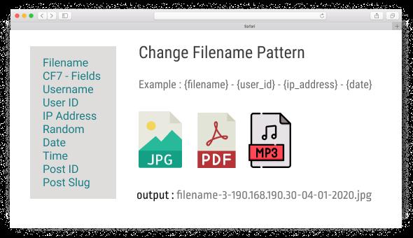 Drag & Drop File Upload - Filename Amend
