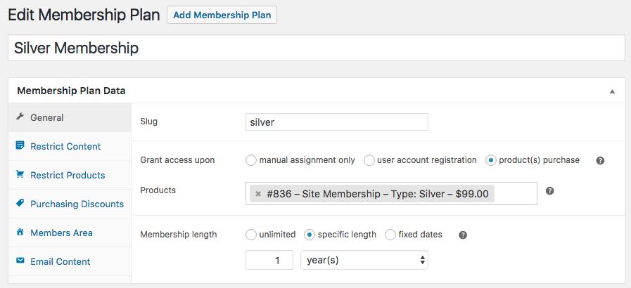 WooCommerce Membership Plan