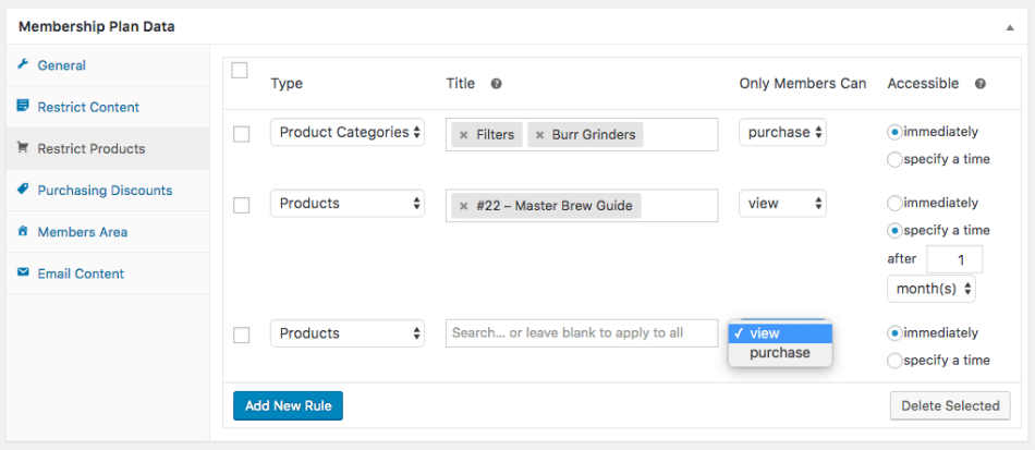 WooCommerce Membership Product Restriction