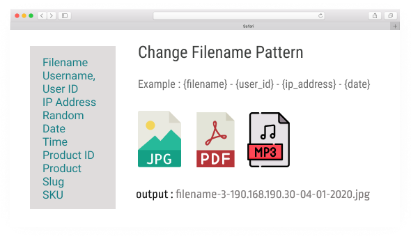 Drag & Drop Multiple File Upload - Filename Amend