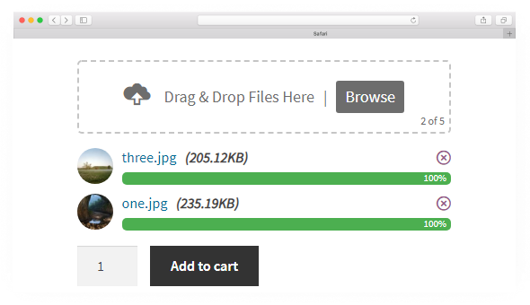Drag & Drop Multiple File Upload - Image Preview