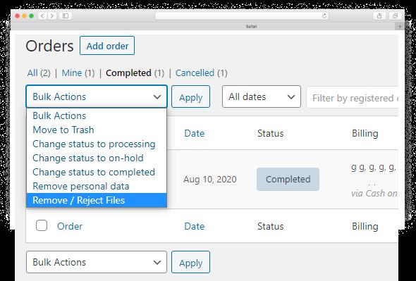 Drag & Drop Multiple File Upload - Reject Files
